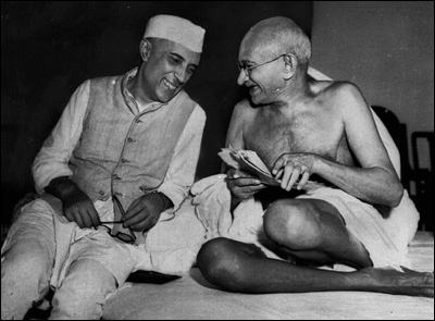 M. K. Gandhi and Jawaharlal Nehru, courtesy: Time.com, Person of the Century