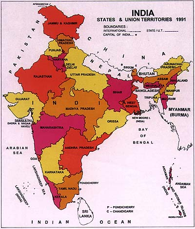 Karnataka in India, courtesy: Census of India.